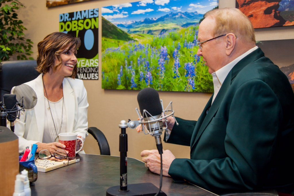 James Dobson speaking with Rhonda Stoppe