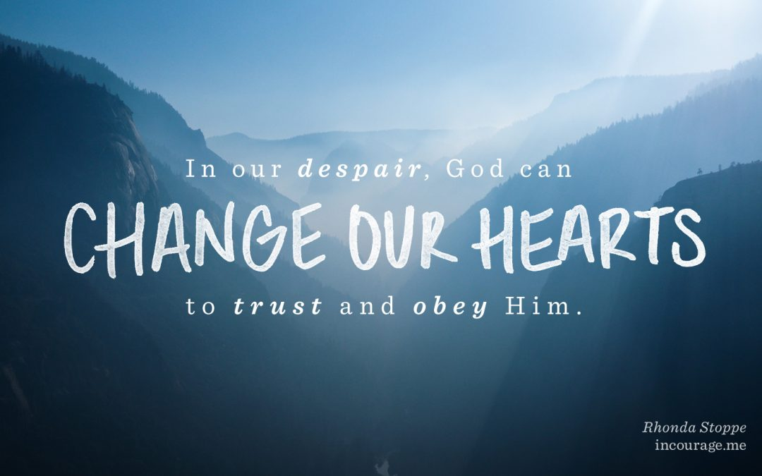 Trusting God in the Middle of Despair by Rhonda Stoppe